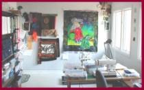 View inside Dottie Gantt's studio