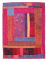 "Photo of ""Happiness Is"" art quilt by Dottie Gantt"