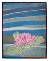 "Photo of ""Keiko's Pond"" art quilt by Dottie Gantt"