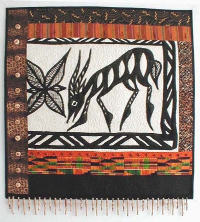 """Mali Mud"" copyright 2001 -  Art Quilt by Dottie Gantt"
