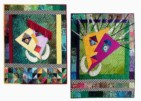 """Myself and I"" and ""Me and Myself"" copyright 1999 - Art Quilts by Dottie Gantt"